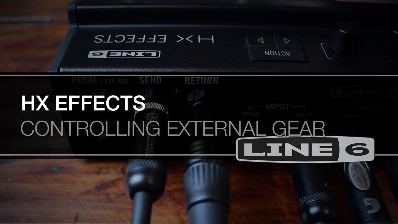 HX Effects Controlling External Gear | Line 6