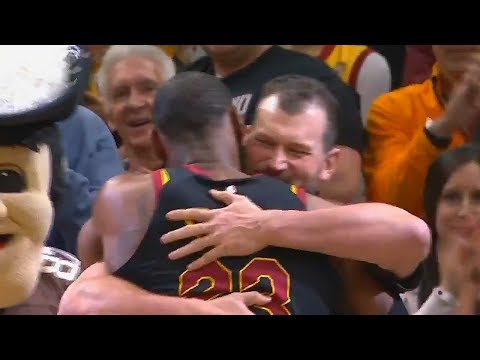 LeBron James Hugs Joe Thomas After His Retirement From the Cleveland Browns!