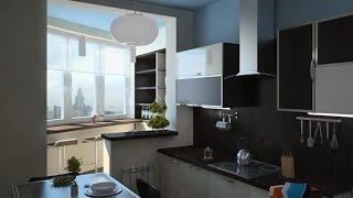 видео Совместить балкон с кухней (55 фото): интерьер и ремонт соединенных помещений, отделка балконного проема