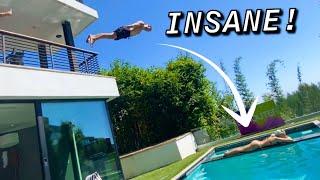 INSANE FLIPS AT BEVERLY HILLS MANSION!