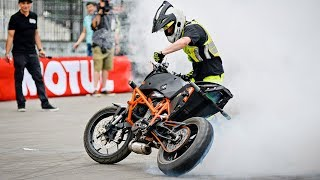 Burnout Contest at Stunt Champ in Moscow