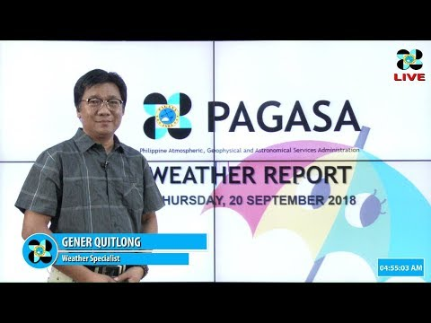 Public Weather Forecast Issued at 4:00 AM September 20, 2018