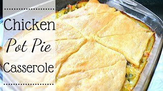 Left over make over meal I How to make chicken pot pie casserole