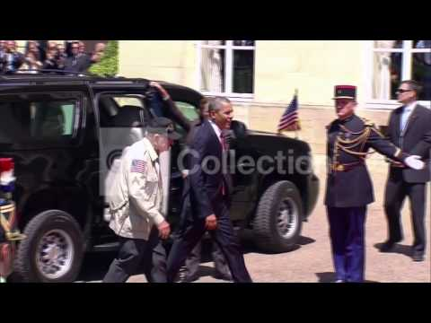 FRANCE: D-DAY  OBAMA ARRIVES AT LUNCH EVENT