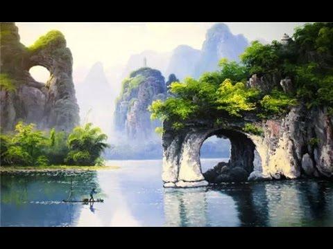Guilin, un lugar turístico famoso por su bello paisaje y su características geográficas exóticas.