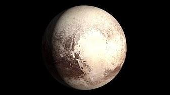 Pluto,Mond und Erde -  Größenvergleich
