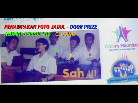 DOOR PRIZE - FOTO VINTAGE - GONE BUT NOT FORGOTTEN - REUNI PERAK SMANSA 92 BOGOR