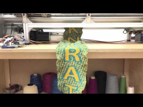 .可以製作針織品的 3D 列印機