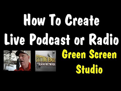How To Build A Radio Studio or Podcast Green Screen Studio, On A Budget #greenscreen #studio