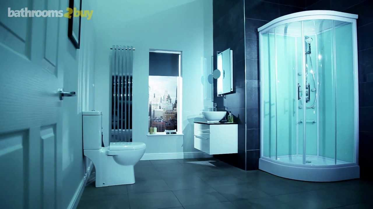 Aqualine Hydromassage Shower Cabin with 6 Body Jets - YouTube