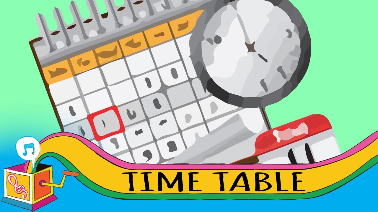 Image result for timetable cartoon