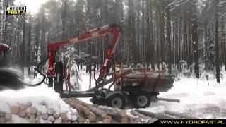 Przyczepa do zrywki drewna HYDROFAST H11
