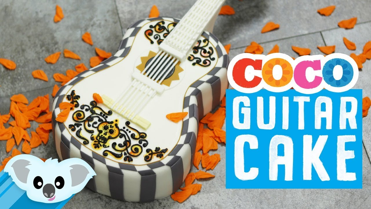 How to make a guitar cake decorating rose