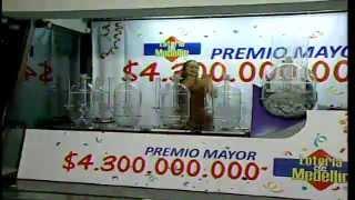 Sorteo de la lotería de Medellín
