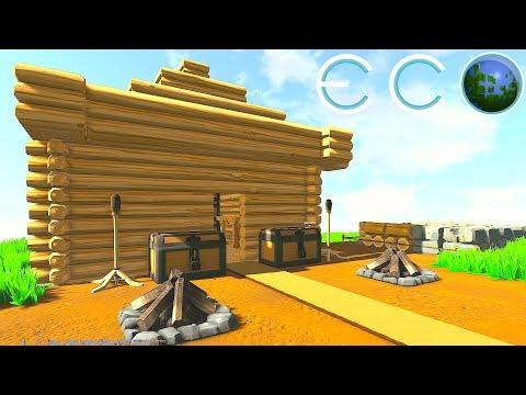 ECO - CONSTRUCTION DE NOTRE BASE + REFORESTATION ! S01EP2
