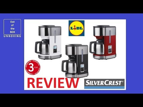 REVIEW Coffee Machine SKMD 1000 A1 KAT (Lidl 1000W 10 cups filter LCD)