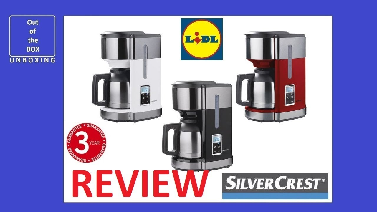 Review Coffee Machine Skmd 1000 A1 Kat Lidl 1000w 10 Cups Filter Lcd