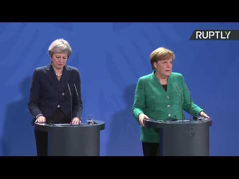 LIVE: Theresa May meets Angela Merkel in Berlin