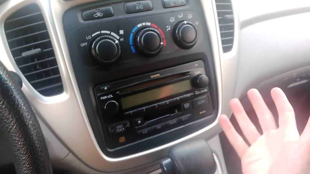 Heating Or Cold Air Not Working In 2005 Toyota Highlander Youtube Voxy Fuse Box