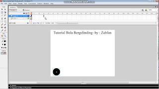 Tutorial Flash 8 membuat bola bergelinding
