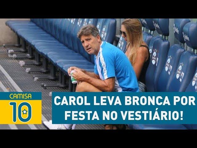 CAROL leva BRONCA de RENATO por fazer FESTA no VESTIÁRIO!