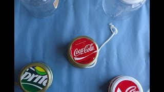 HOW TO MAKE A COCA-COLA HOME MADE YOYO - TIPS AND TRICKS