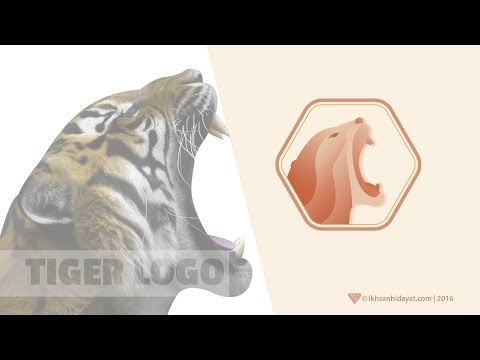 How To Create Tiger Logo - Illustrator For Beginners