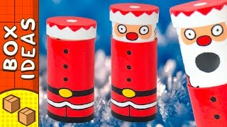 DIY Santa Mint Dispenser | Cardboard Christmas Crafts for Kids on Box Yourself