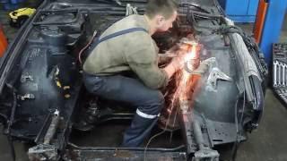 BMW E34 Swap M60B40 Покраска подкапотного пространства