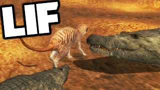 LIF - CROCODILE BREEDING, BABY, ANIMAL ATTACKS (Funny Moments Gameplay)