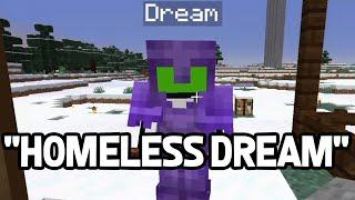 "Dream builds his ""Evil"" base while Technoblade makes fun of him being homeless - Dream SMP"