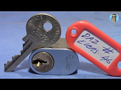Взлом отмычками RUKO   (picking 525) Ruko oval challenge lock by