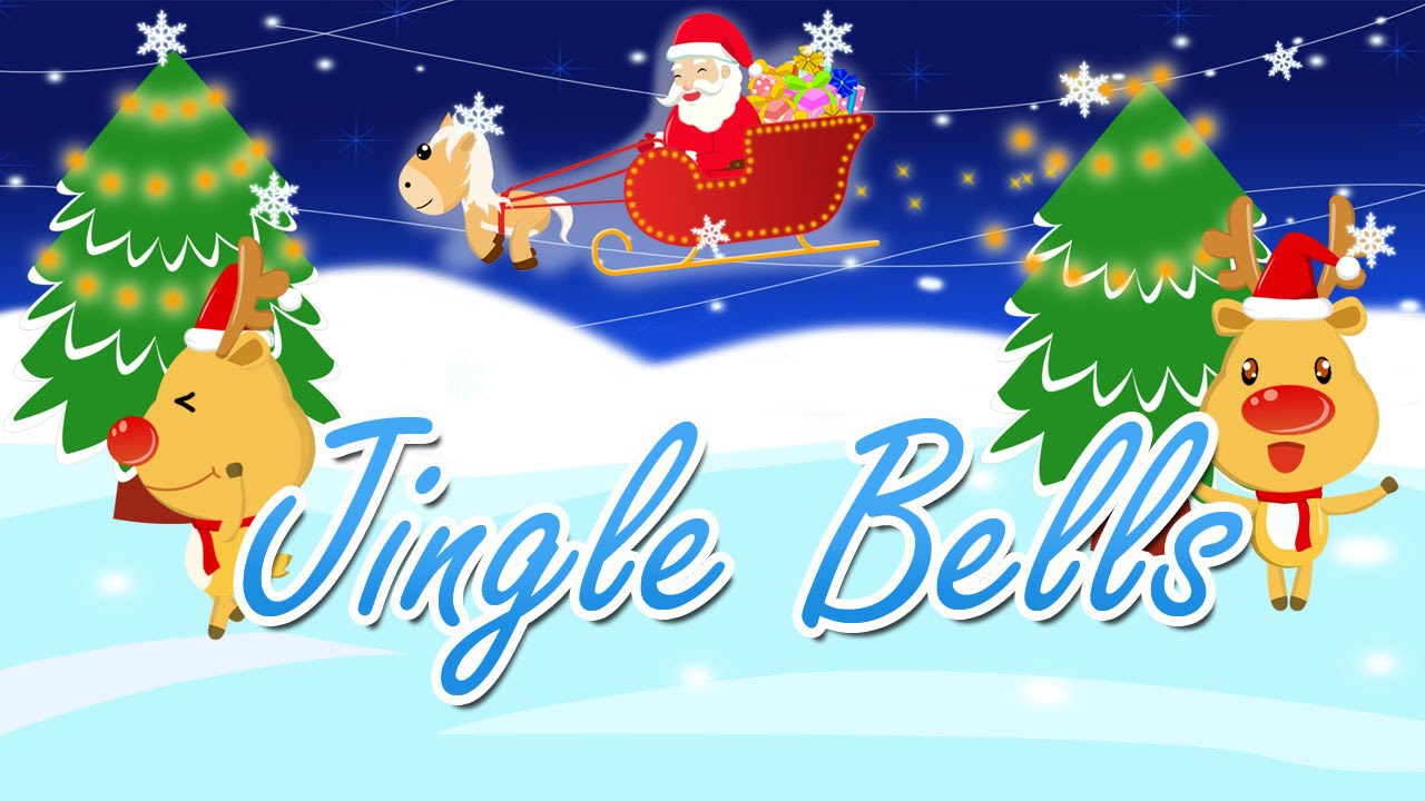 Jingle Bells song for children with lyrics - Funny Christmas animation ...