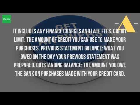 What Is An Outstanding Statement Balance
