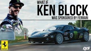 What if Ken Block was Sponsored by Ferrari?