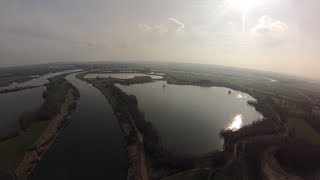 Good weather goPro flight in Stolzenau at the river Weser