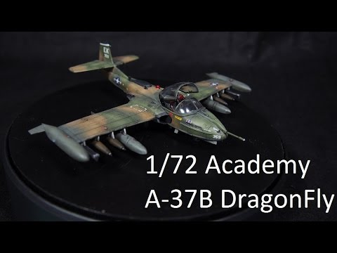 049: Log 08:  1/72 Academy A-37B Dragonfly complete built
