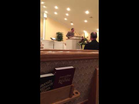 Bro. Cody Zorn singing at Freedom Baptist Church revival