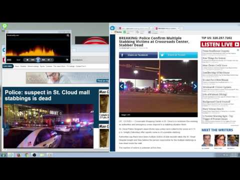 LIVE - Mass Stabbing at Crossroads Center in Minnesota  Police Audio - Multiple People Injured