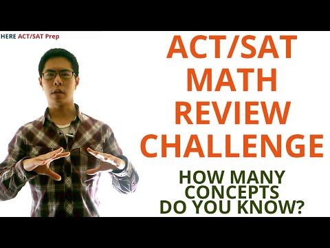 ACT Math Prep Strategies, Tips, and Tricks - 15 Major Concepts to Know
