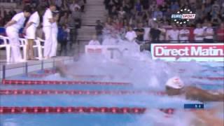 Florent MANAUDOU 50m papillon monsieur championnat de France de natation 25m /2014