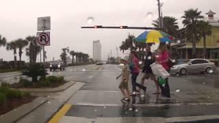 panama city beach florida rainy drive
