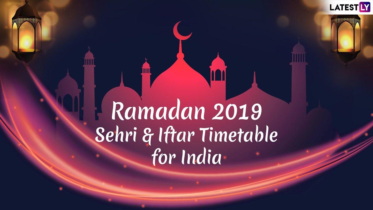 Ramzan Iftar And Sehri Time Table 2019 For Kolkata: Download