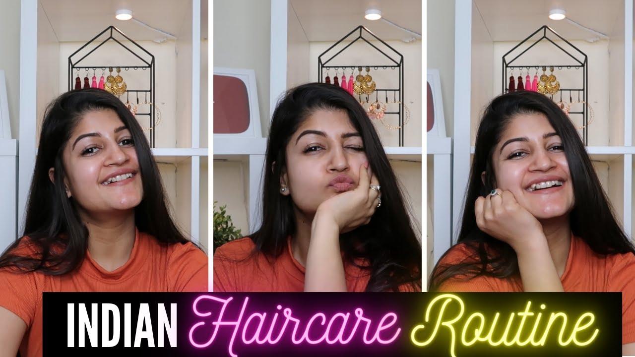 MY INDIAN HAIRCARE ROUTINE    HOMEMADE HAIR-FALL CONTROL OIL & MORE    RIDHIMAA MOHINI