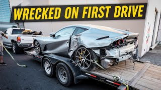 Ferrari 812 WRECKED on First Drive