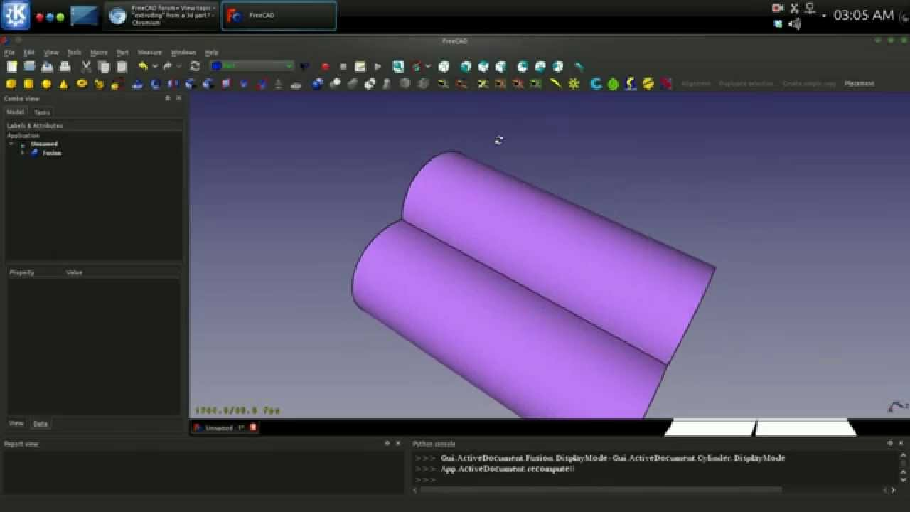 Extending A Face With CrossSection and Extrude