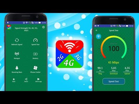 Signal Strength 3G, 4G, 5G, WiFi - Speed Test - Apps on