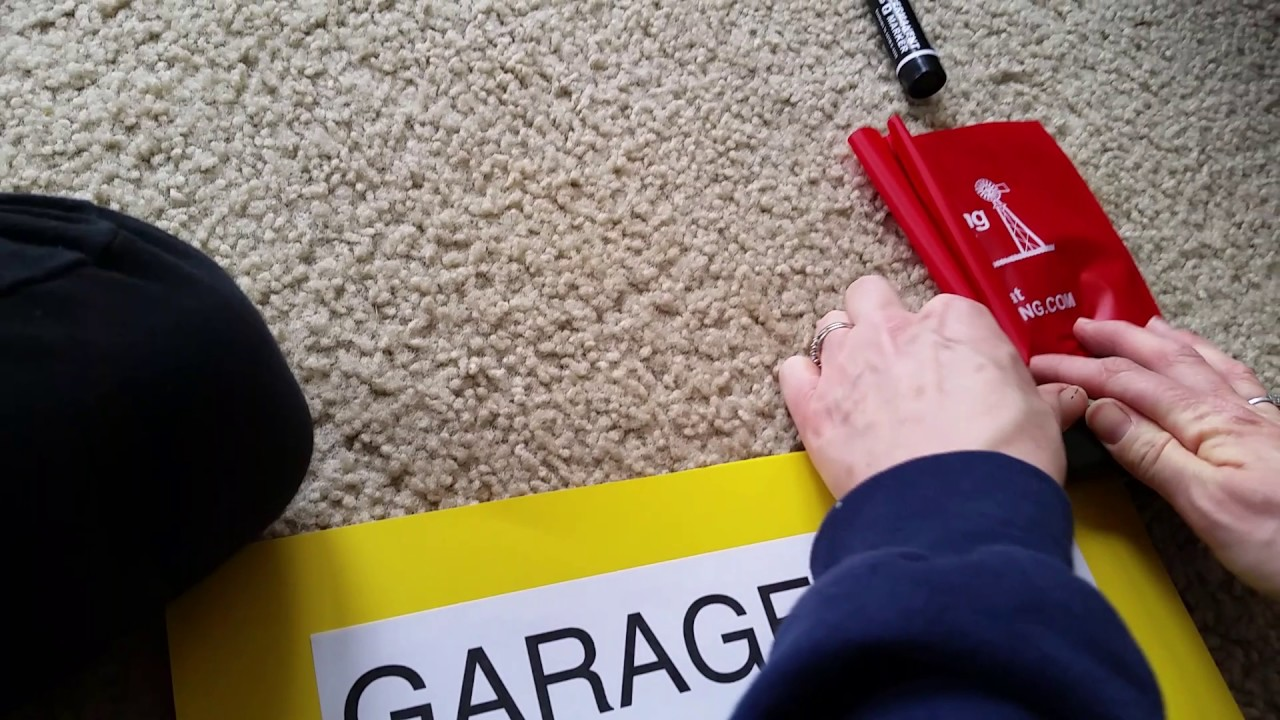 How To Make An Awesome Cheap Garage Sale Sign Youtube