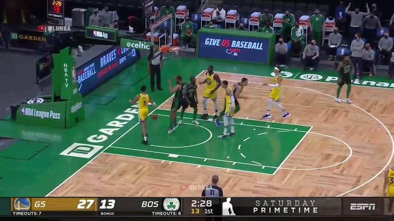 Jabari Parker first bucket in a Celtics uniform | GSW vs Celtics