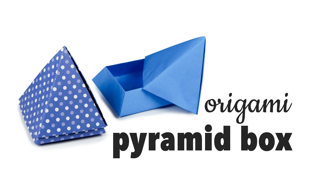 Papercraft Origami Pyramid Box Tutorial ♥︎